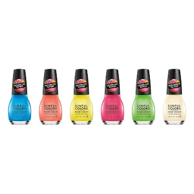 Sinful Colors Sporty Brights Nail Polish Collection - 6pk