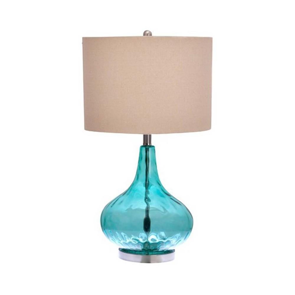 Image of Jasmine Table Lamp Teal - Cresswell Lighting