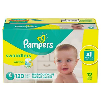 Pampers Swaddlers Disposable Diapers Enormous Pack - Size 4 (120ct )