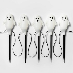5ct Incandescent Ghost Halloween Path Lights Clear - Hyde & EEK! Boutique™