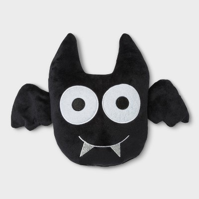 Plush Bat Shaped Throw Pillow Black - Hyde and Eek! Boutique™
