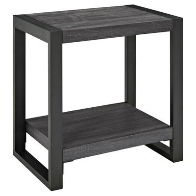 24  Side Table - Charcoal - Angelo:Home