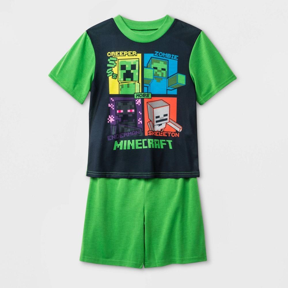 Image of Boys' Minecraft 2pc Pajama Set - Green 10, Boy's