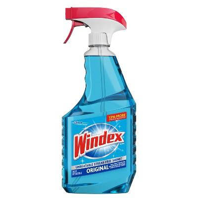 Windex Glass Cleaner Bonus Trigger Bottle Original Blue - 26 fl oz