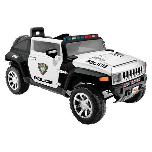 Kid Motorz Hummer Hx Police 12v Ride On Black White Target