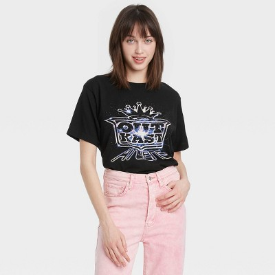 Women's Outkast Short Sleeve Cropped Graphic T-Shirt - Black