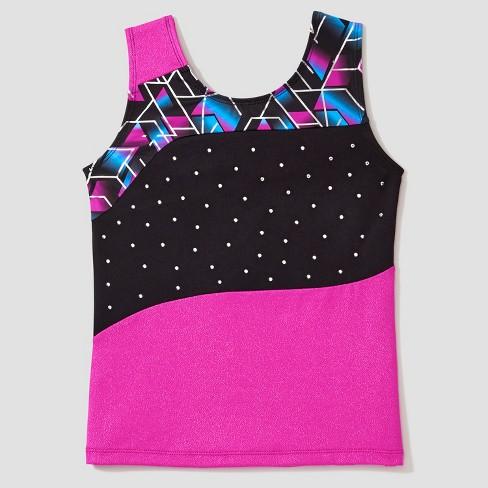 Freestyle® by Danskin® Girls' Activewear Tank Top - Black/Magenta - image 1 of 2