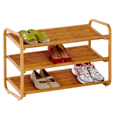Honey-Can-Do 3-Tier Deluxe Bamboo Shoe Rack - image 1 of 2