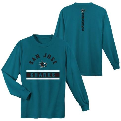 San Jose Sharks Boys  Warming House Long Sleeve T-Shirt - S   Target 36fbfd671ac