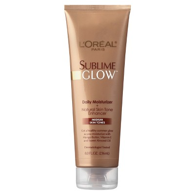 L'Oreal® Paris Sublime Glow® Daily Moisturizer+Natural Skin Tone Enhancer Medium Skin Tones - 8 fl oz