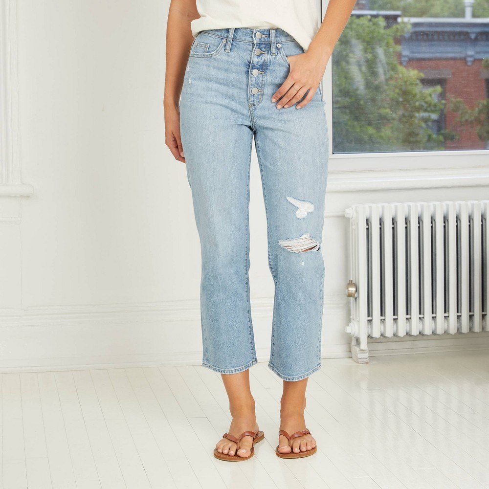Coupons Women's Super-High Rise Vintage Straight Jeans - Universal Thread™