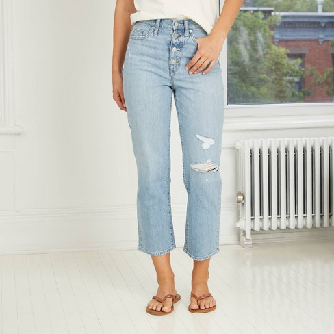 Women's High-Rise Vintage Straight Jeans - Universal Thread™ - image 1 of 4