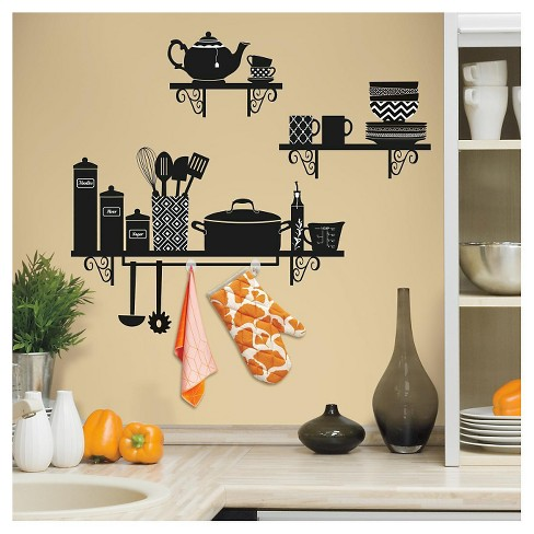 RoomMates Build a Kitchen Shelf Peel and Stick Giant Wall Decals - image 1 of 2