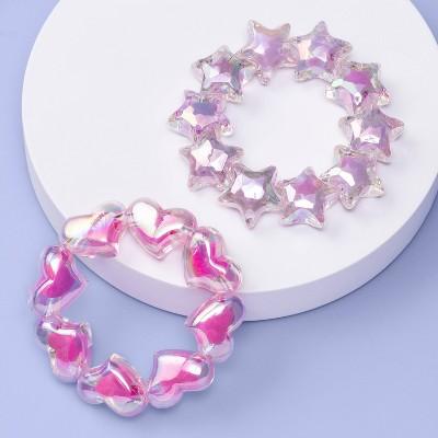 Girls' 2pk Heart and Star Chunky Bracelet Set - More Than Magic™