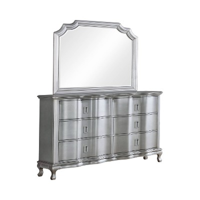 2pc Bentlee Dresser and Mirror Set Silver - HOMES: Inside + Out