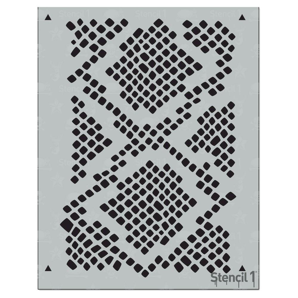 Stencil1 Snakeskin Repeating - Stencil 8.5 x 11, White