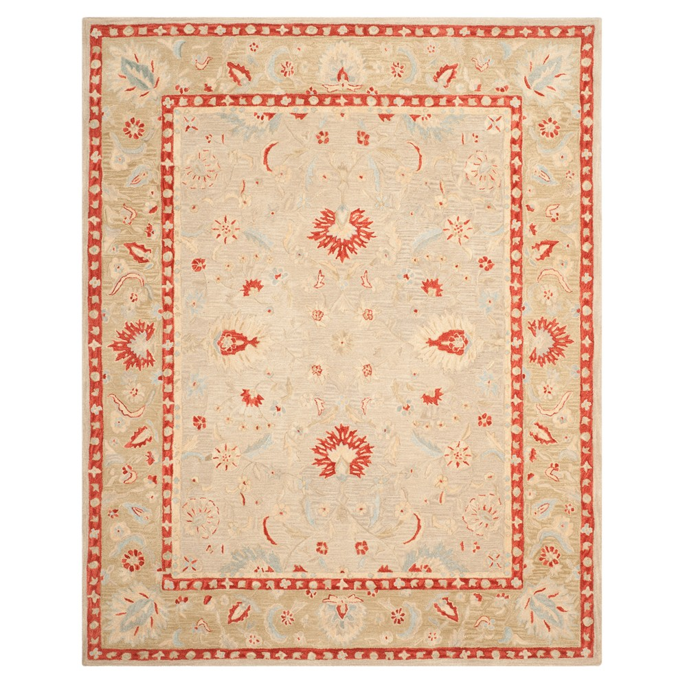 Ivory/Green Floral Tufted Area Rug 8'X10' - Safavieh, Ivoryngreen