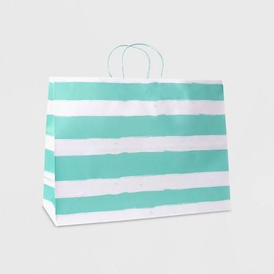 Large Striped Vogue Bag Mint - Spritz™