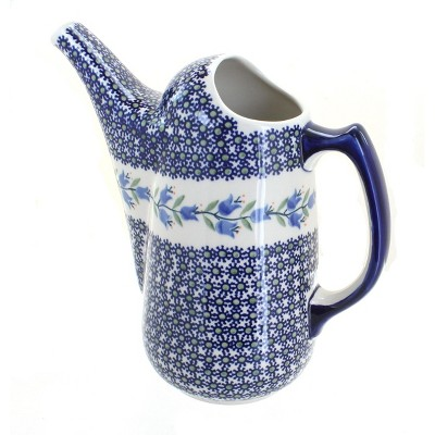 Blue Rose Polish Pottery Tulip Watering Can