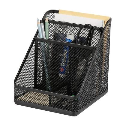 Mesh Medium Desktop Organizer Black - Made By Design™