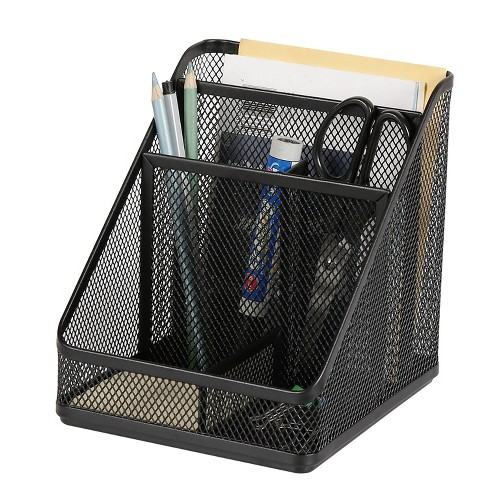 Mesh Medium Desktop Organizer Black - Made By Design™ - image 1 of 4