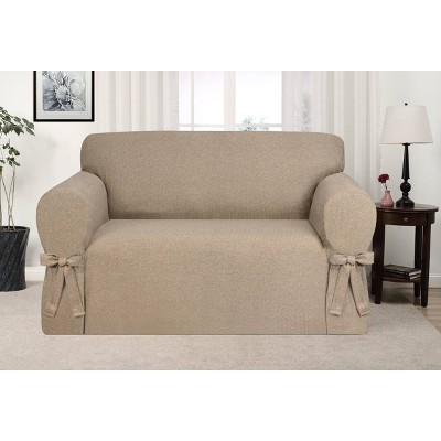 Evening Flannel Loveseat Slipcover Fawn - Kathy Ireland