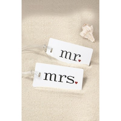 Mr./Mrs. Luggage Tag Set, Size: Small, Red