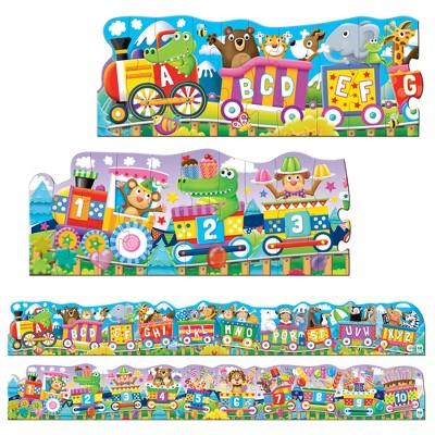 The Learning Journey Puzzle Doubles! Giant ABC & 123 Trains 60 pcs