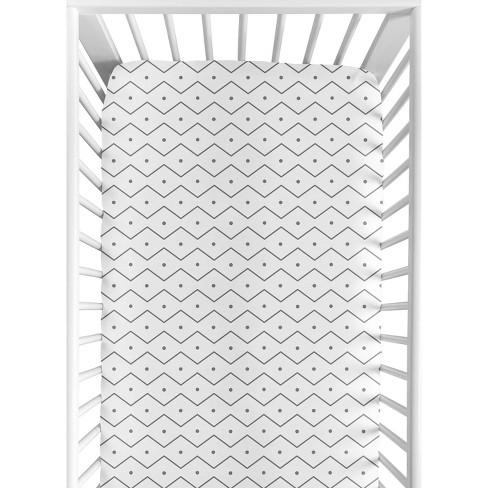 Sweet Jojo Designs Fitted Crib Sheet - Blue & Green Mod Dino - Geo Print - image 1 of 4