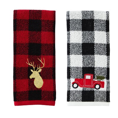 2pc Stag/Truck Hand Towel Set Red - SKL Home