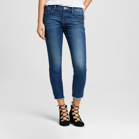 Women's Tacoma Frayed Hem Skinny Crop Jeans - Crafted by Lee® - image 1 of 6