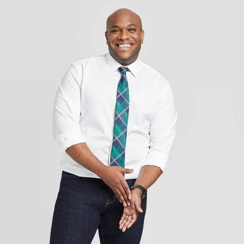 Men's Big & Tall Standard Fit Non-Iron Dress Long Sleeve Button-Down Shirt - Goodfellow & Co™ White 2XB