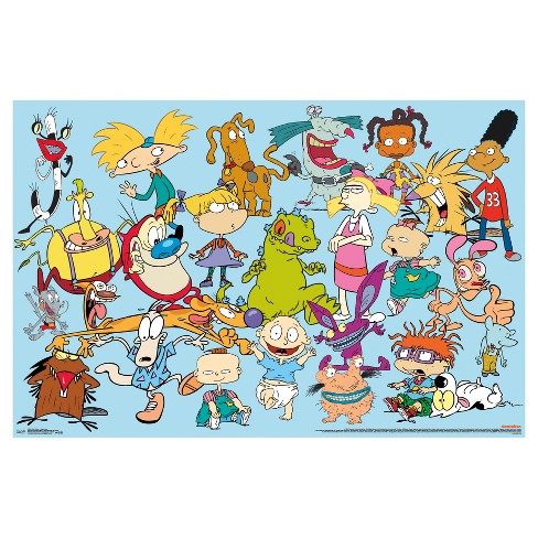 nickelodeon characters poster 34x22 trends international target