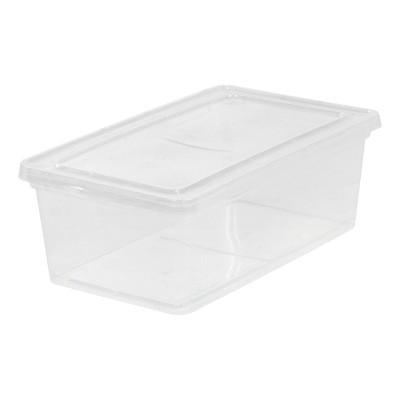 IRIS 10pk 6qt Storage Bin Clear