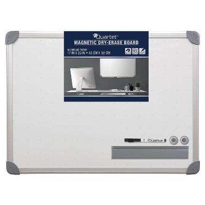 """Quartet 17"""" x 23"""" Magnetic Dry-Erase Board Set - Aluminum Frame"""
