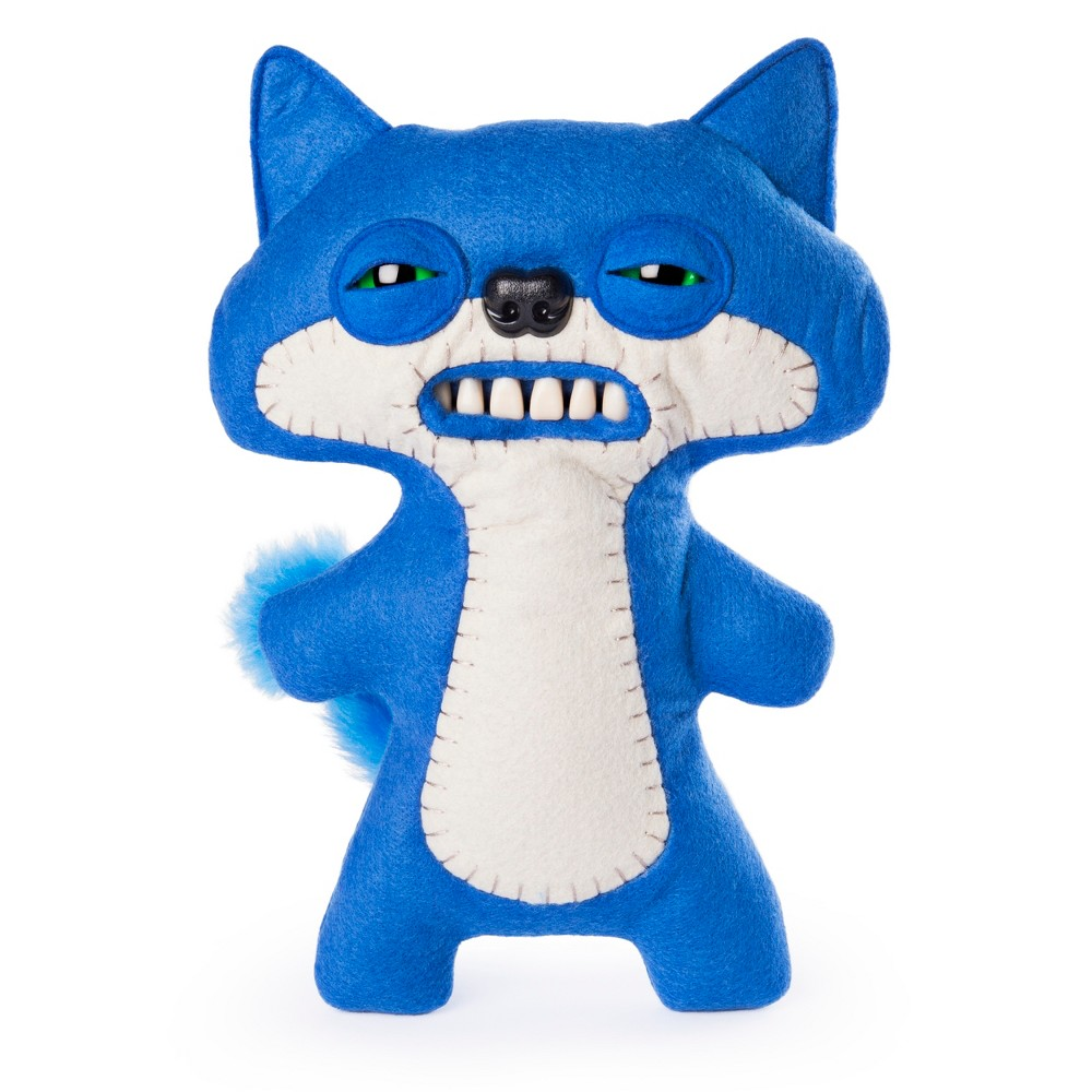 Fuggler Funny Ugly Monster 9 Suspicious Fox Plush Creature with Teeth - Blue