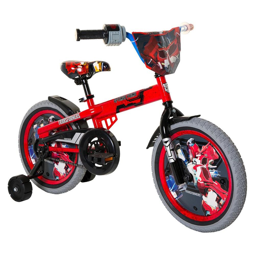 Kids Transformers Optimus Prime Bike - Red/ Gray (16)