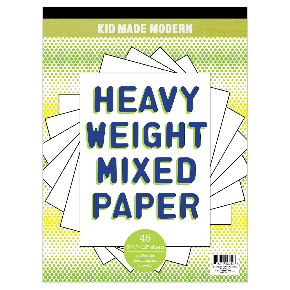 Kid Made Modern Heavy Weight Mixed Paper Pad, Blue/Red/Green/Multicolor