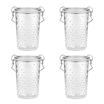 Amici Home Gemma Hobnail Glass Canister, Assorted Set of 2 Sizes