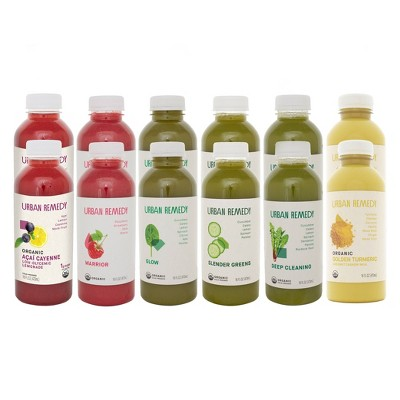 Urban Remedy Organic Low Glycemic Juice Cleanse - 12ct/16 fl oz