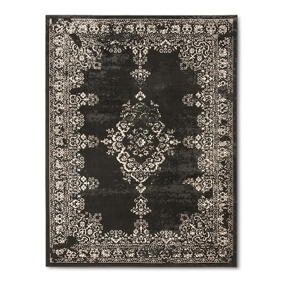 Dark Gray Medallion Woven Area Rug 9'2 X12' - Threshold™