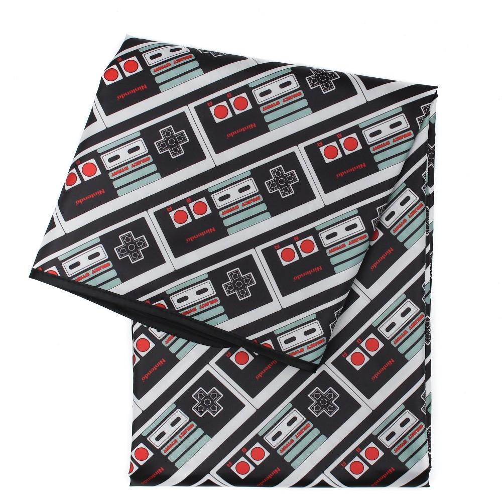 Image of Bumkins Nintendo Splat Mat NES Controller, Black Gray Red
