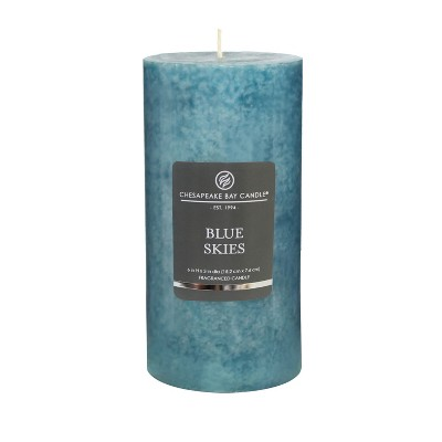 6  x 3  Pillar Candle Blue Skies - Chesapeake Bay Candle
