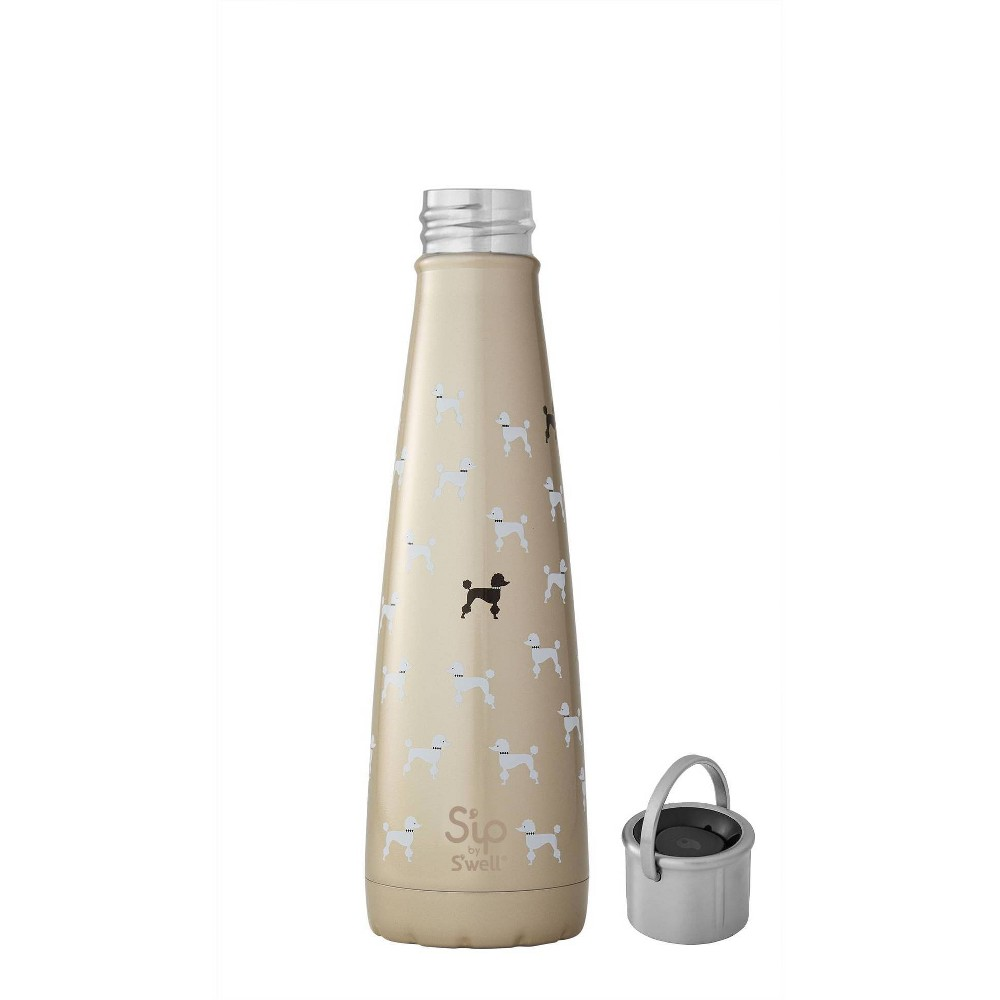 Image of S'ip by S'well 15oz Stainless Steel Insulated Poodle Hydration Bottle Gold