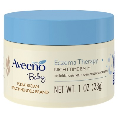 Aveeno Baby Eczema Therapy Nighttime Balm with Natural Oatmeal - 1oz