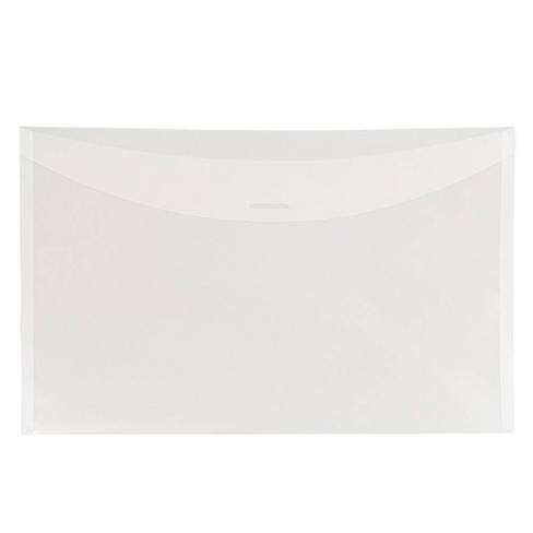 JAM Paper 6'' x 9'' 12pk Plastic Envelopes with Tuck Flap Closure, Booklet - Clear - image 1 of 3