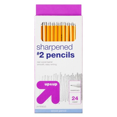 Sharpened #2 Wood Pencils 24ct - Up&Up™