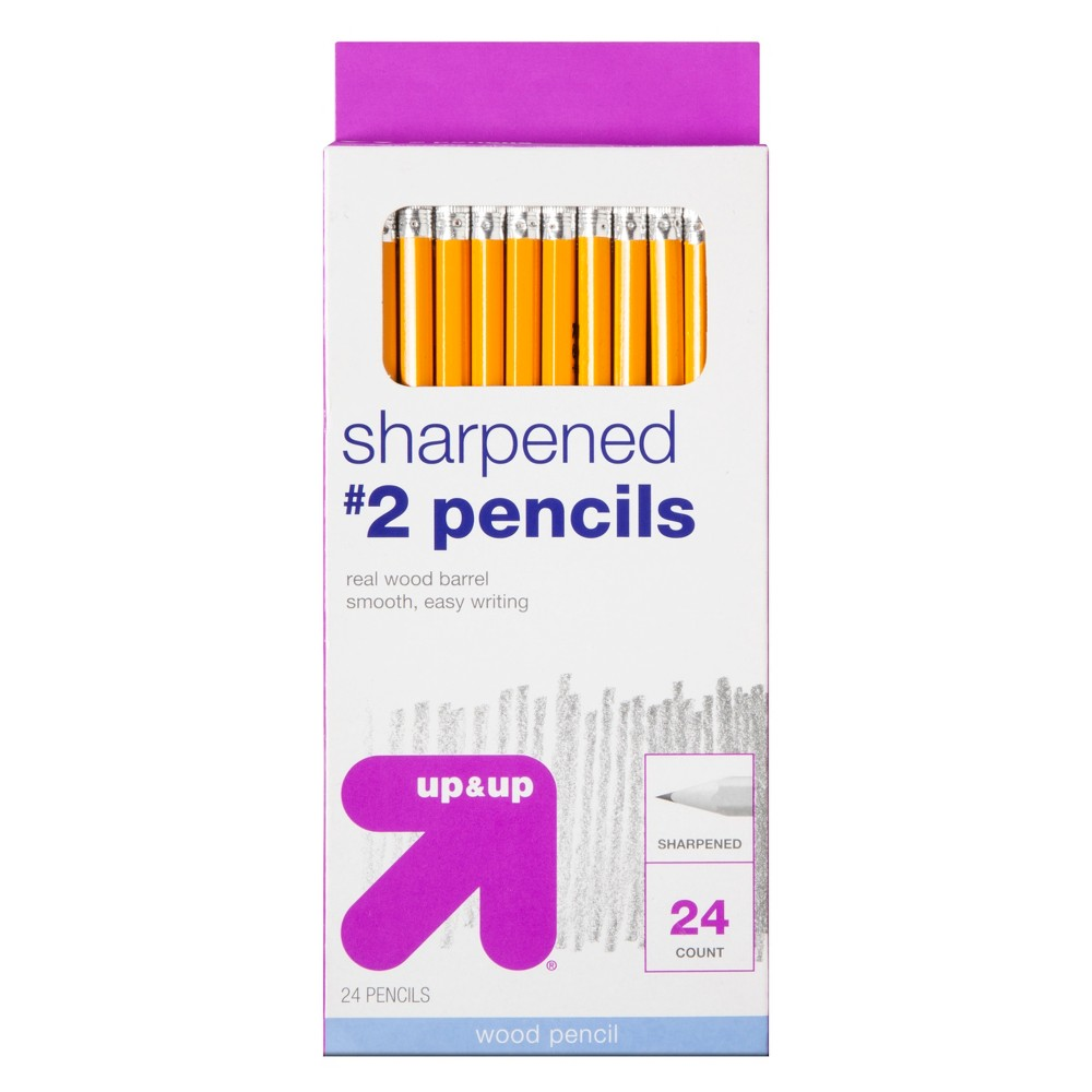 Sharpened #2 Wood Pencils 24ct - Up&Up was $2.99 now $1.99 (33.0% off)