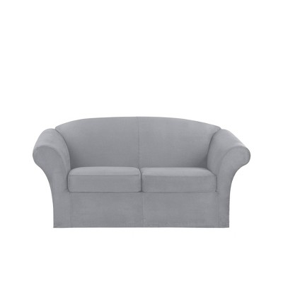 Ultimate Stretch Loveseat Suede Slipcover - Sure Fit