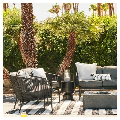 Black And White Patio Furniture Collection